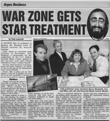 Pavarotti Newspaper Article BW v4